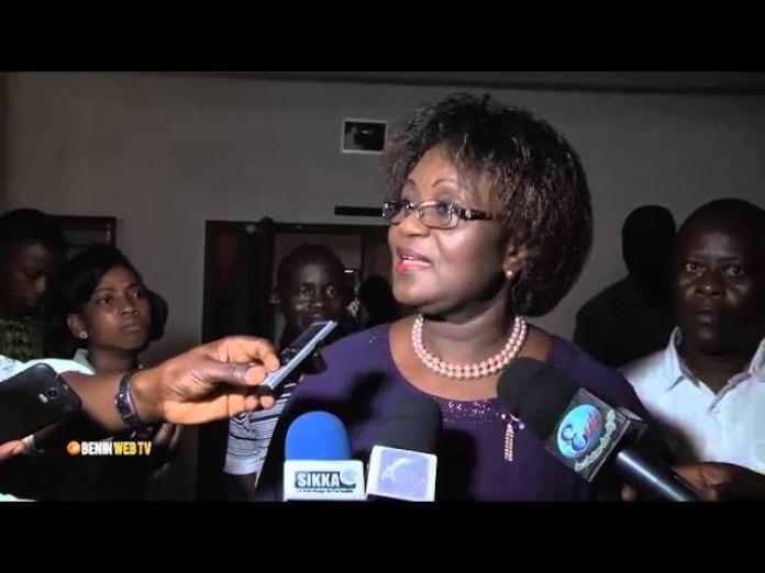 Célestine Zanou ce lundi 08 février 2016 au Chant d'oiseau de Cotonou. Photo : BeninwebTV