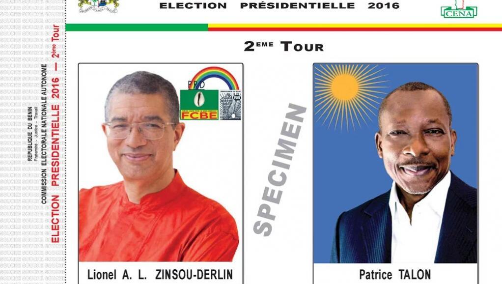 Spécimen Bulletin de vote 2eme tour