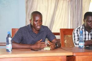 Fodé Kouyaté, président de l'Association des blogueurs de Guinée au #WasexoTweetup du 7 mai 2016. Photo : Maurice Thantan